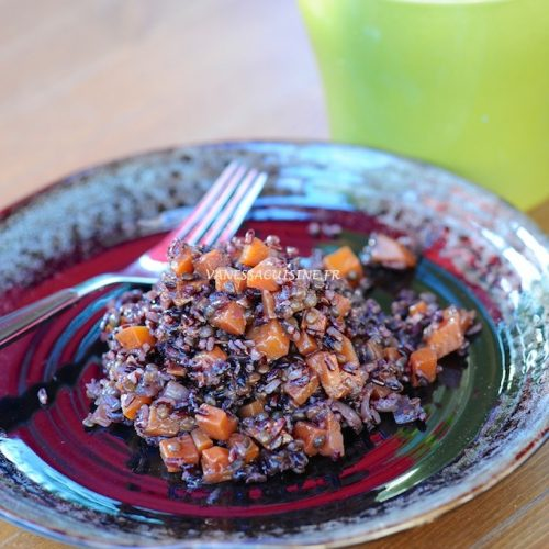 recette de risotto au riz venere et courge