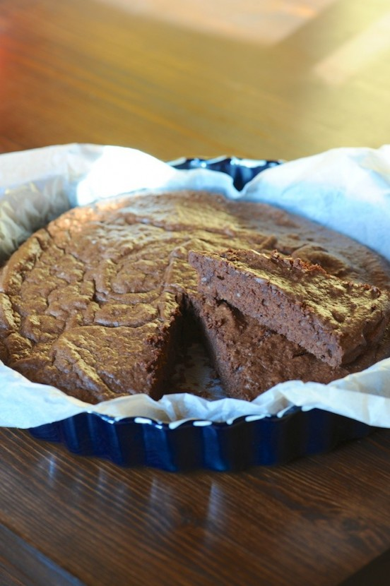 Moelleux au chocolat noir, amandes et sarrasin