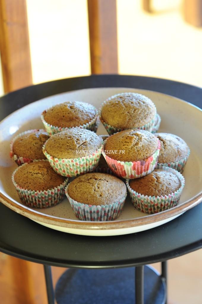 Gâteaux aux noisettes et lait de coco, pépites de chocolat au lait