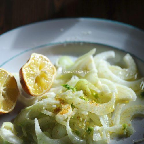 Salade de fenouil au curry et citron Beldi