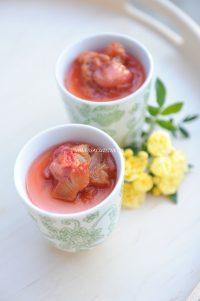 recette de panna cotta au lait de coco rhubarbe et fraise