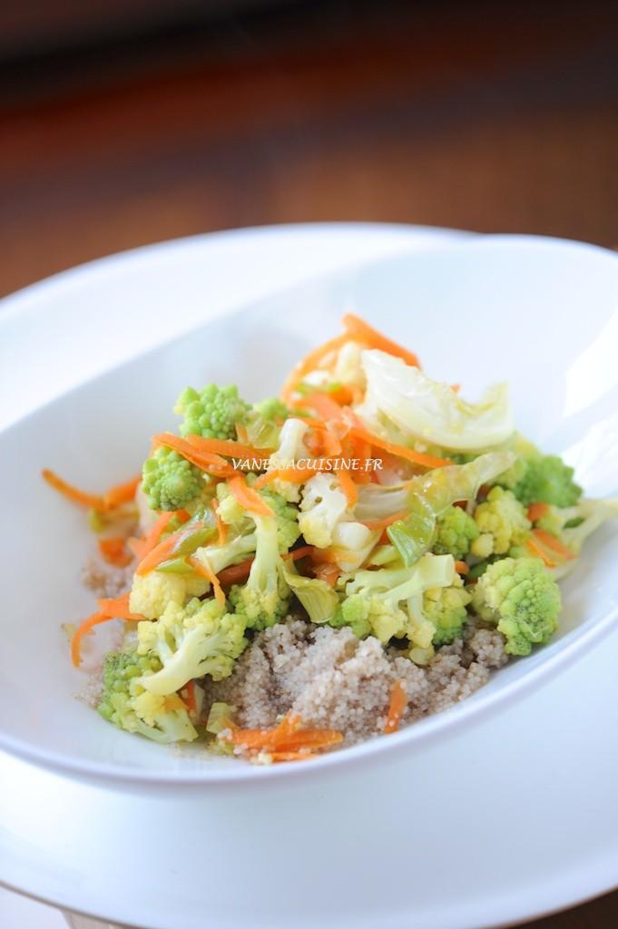 Fonio et wok de légumes de saison