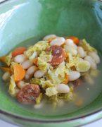 recette de minestrone au chou et chorizo
