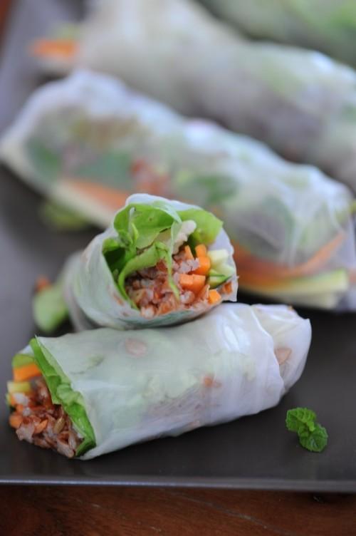 Rouleaux de printemps au riz rouge de Camargue et crevettes - Vanessa Romano, photographe et styliste culinaire2
