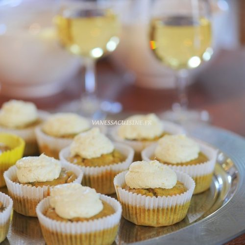 recette de Cupcakes à la truite fumée et aneth