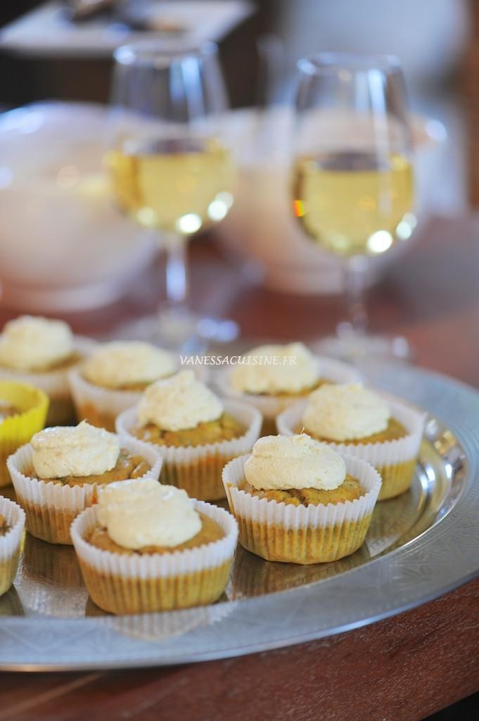 Cupcakes à la truite fumée et aneth