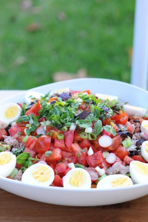 Salade Bagnat aux deux riz de Camargue