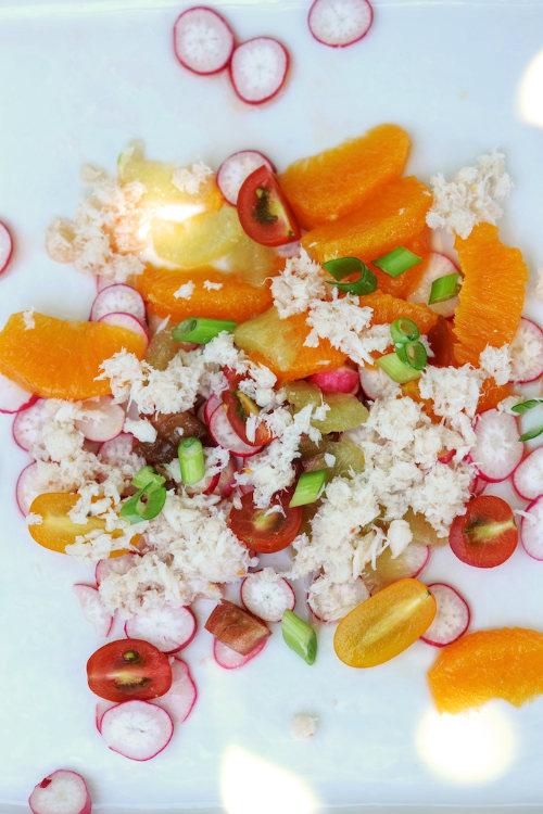 Salade de crabe aux agrumes