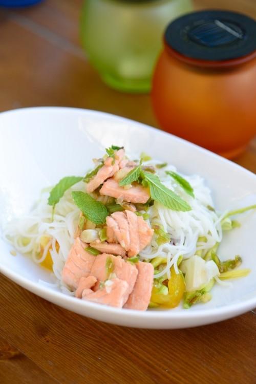 Saumon façon Bo Bun - Bo Bun with organic salmon - Vanessa Romano-Photographe et styliste culinaire-