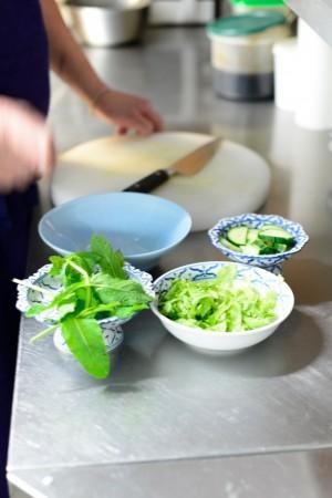 concombre salade menthe pour le bo bun