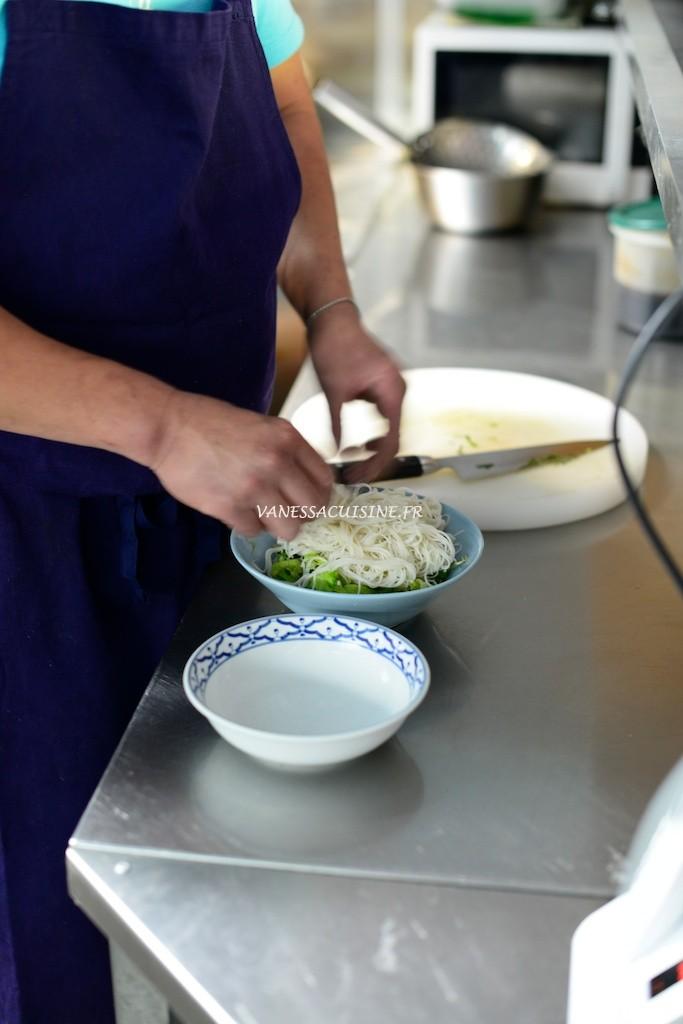 deposer vermicelles riz bo bun