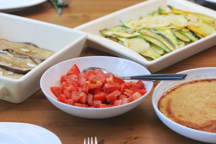 Repas provençal (vegétarien et sans gluten) - Lunch Provençal style (veggie and gluten free) - Vanessa Romano-Photographe et styliste culinaire-