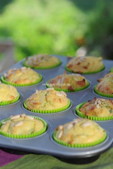 cakes courgette chevre pignons