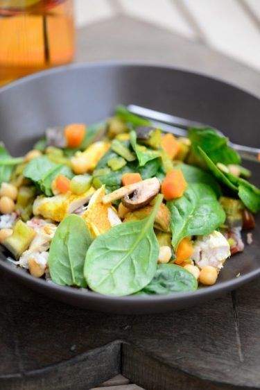 recette deStir fry au poulet légumes