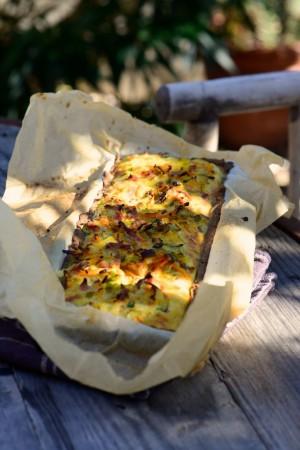 La tarte aux légumes, retour de marché (sans gluten, ni caséine de lait)