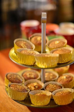 Muffins à l'orange et aux épices de Noël