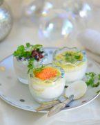 recette oeufs de caille festifs aux oeufs de poisson truffe