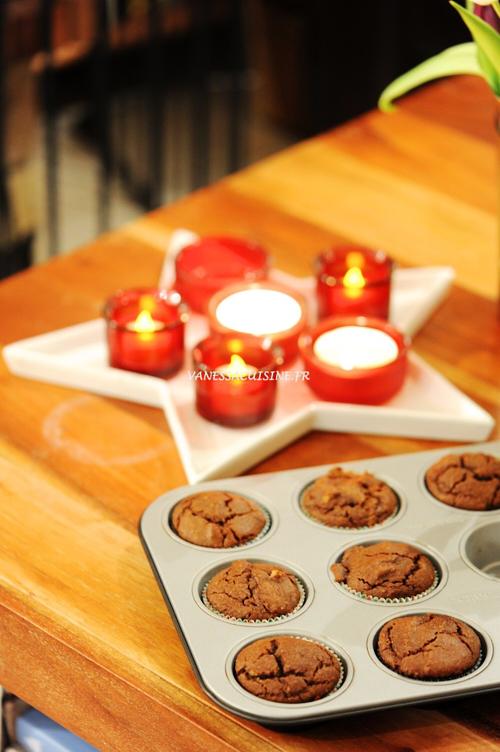 recette de muffins à la pralinoise et noix de pécan