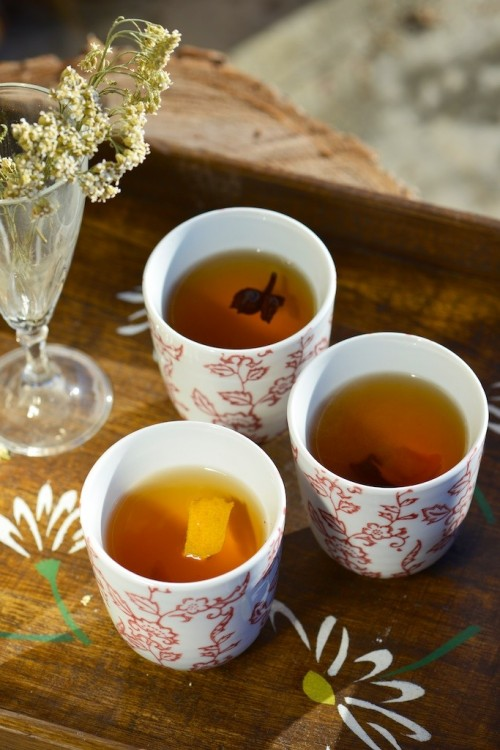 recette de thé vert aux épices et agrumes