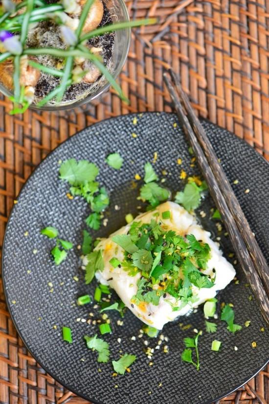 Cabillaud à l'asiatique, cuit à la vapeur douce - Steamed cod, asian style - Le Vitaliseur - Vanessa Romano photographe et styliste culinaire (1)