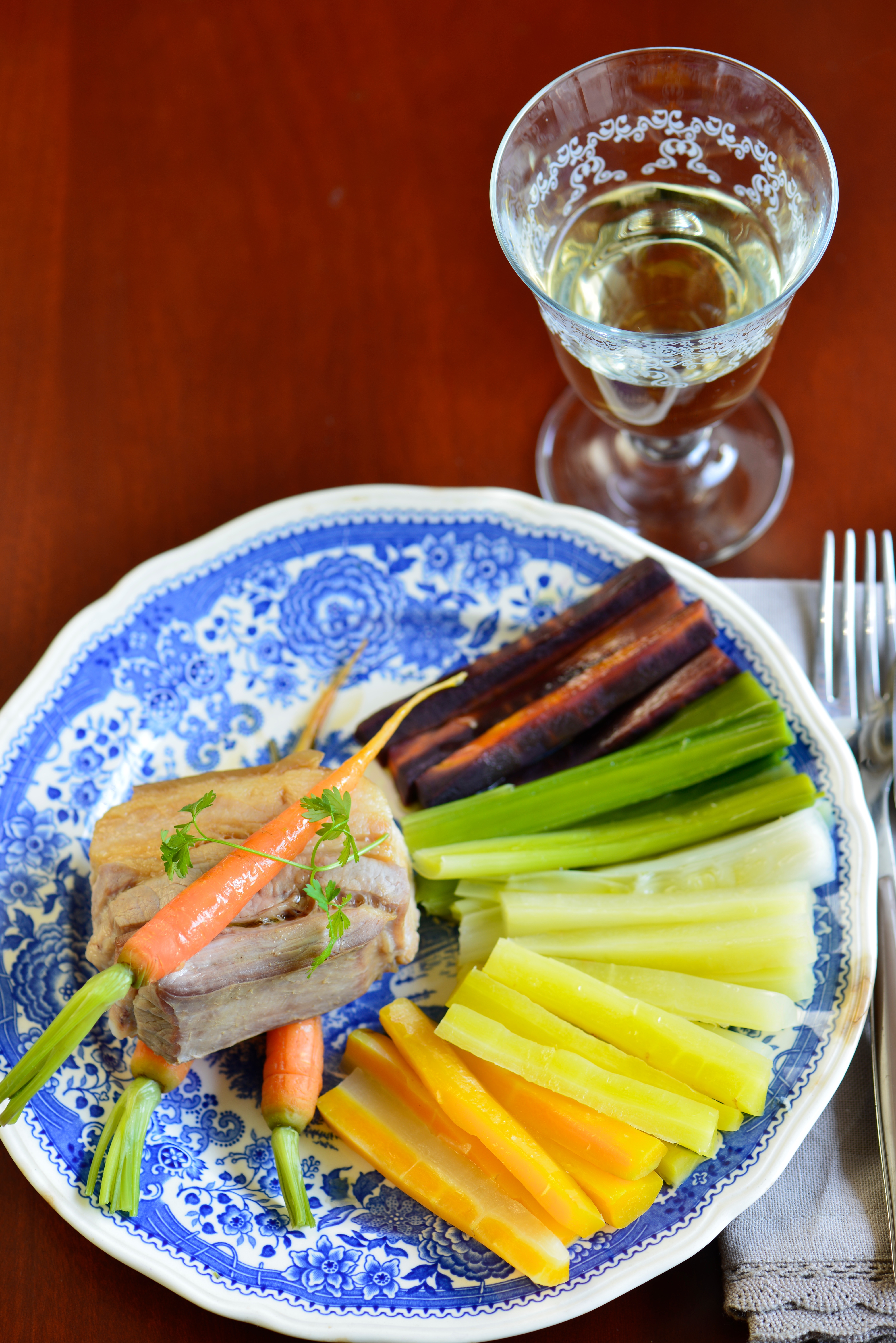 recette de poitrine de cochon ventoux carottes multicolores