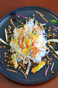 salade de choucroute vapeur et poissons fumes