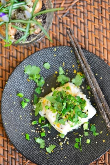 recette de cabillaud à l'asiatique cuisson vapeur