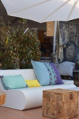 coussins de chez Baobab Salon Côté Sud Saint Tropez 2015