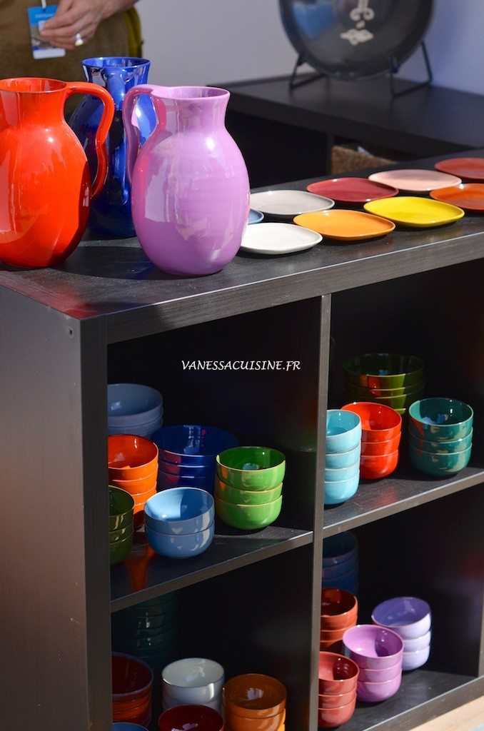Vaisselle atelier Buffile Salon Côté Sud Saint Tropez 2015
