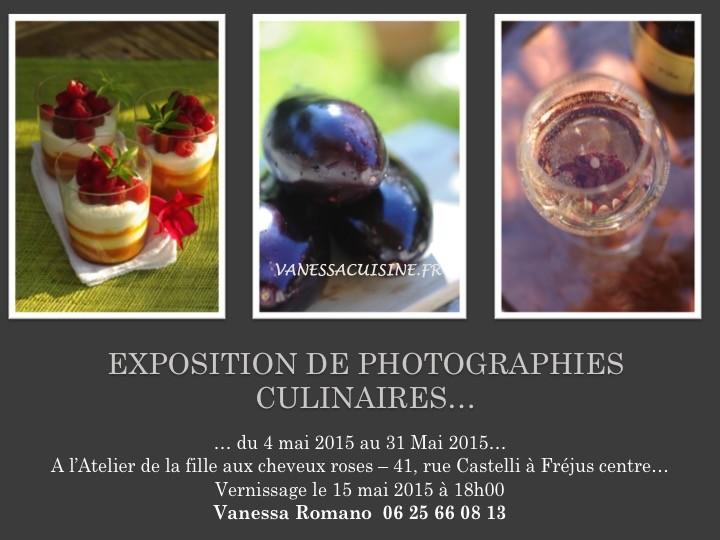 affiche d'une exposition de photographies culinaires Vanessa Romano