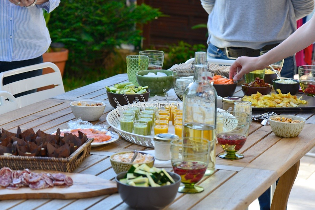 Buffet v g tarien du vernissage de mon expo de photos for Au jardin des amis