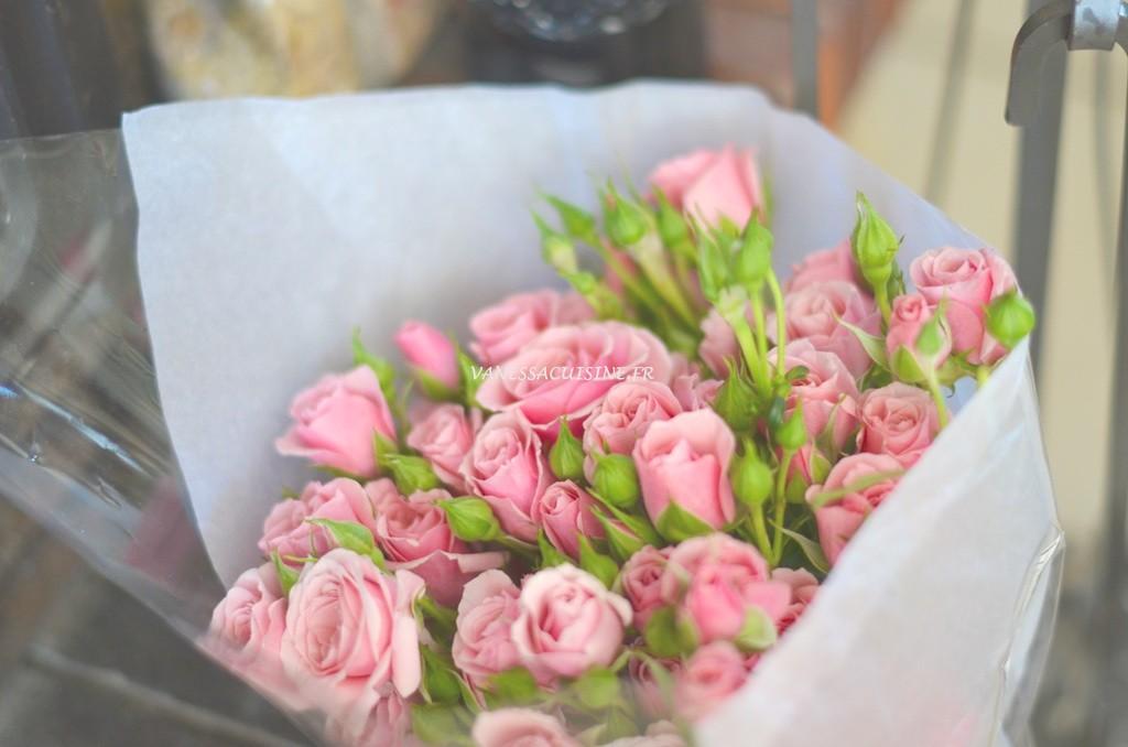 Bouquet de roses anciennes d'Agnès