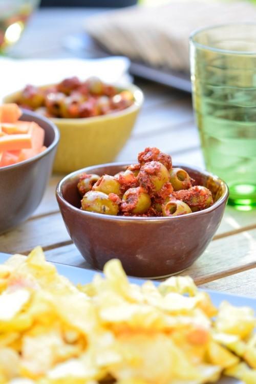 recette d'olives au coulis de tomate