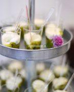 recette de verrines de compote de courgettes, crème au parmesan