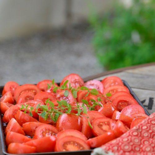 recette de tomates confites au four