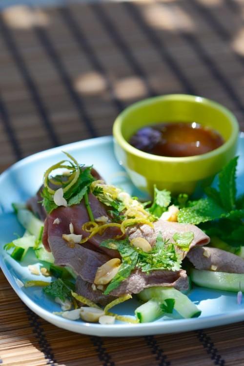 recette de salade thaie au boeuf