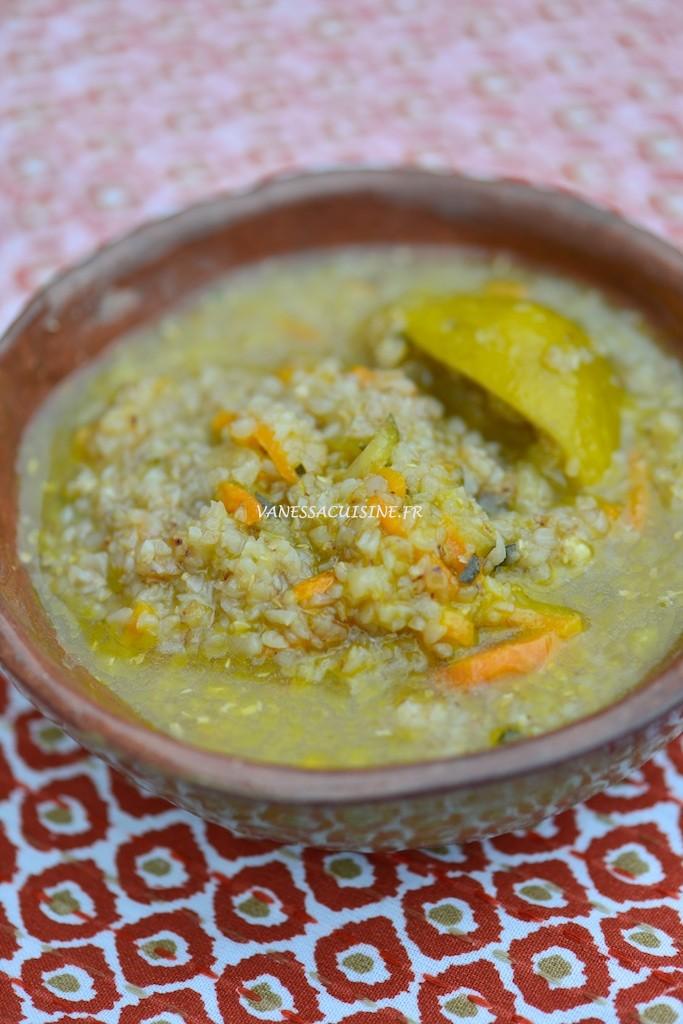 Brouet de sarrasin au poulet et aux légumes