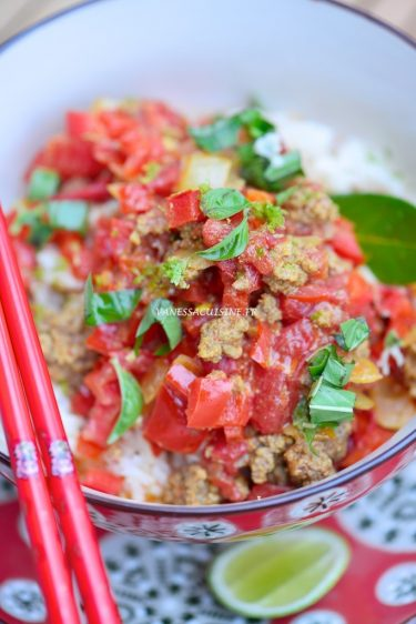 recette rapide de hashed beef curry