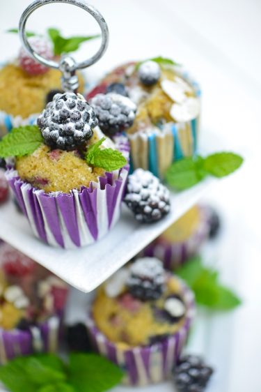recette de muffins aux fruits rouges sans gluten