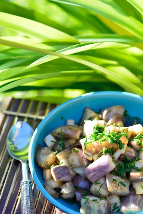 Salade d'aubergine à la Vietnamienne - Eggplant salad, vietnamese style - Le Vitaliseur - Vanessa Romano photographe et styliste culinaire