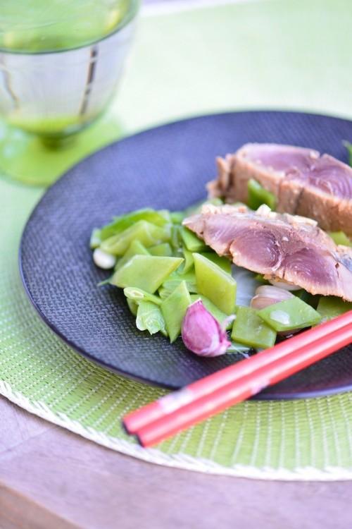 recette de Tataki de bonite à la vapeur douce