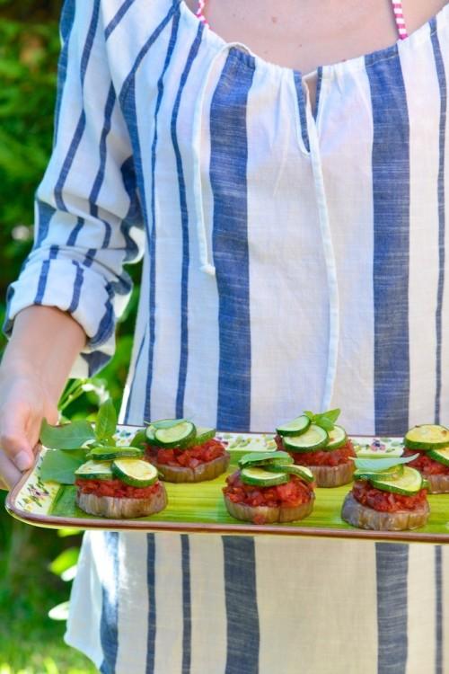 recette de millefeuille d'aubergines et tomates