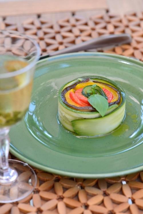 recette de spirale de légumes de Provence