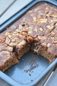 recette de brownie à la pralinoise et noix (gluten free)