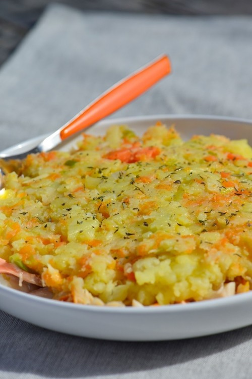 recette de parmentier de légumes racines et poissons