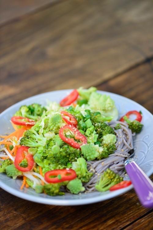 recette de Salade asiatiques aux nouilles soba