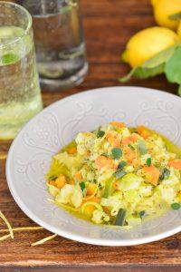 Stoemp de légumes de saison au curry