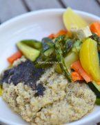 recette de polenta à la truffe, légumes rôtis au four