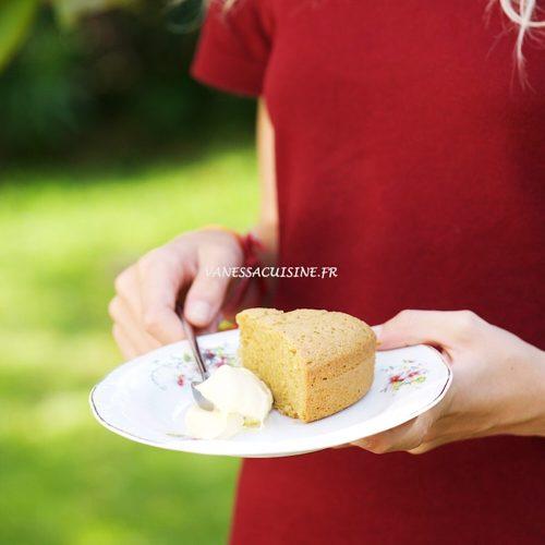 recette de gâteau à la farine de pois chiche cuit à la vapeur