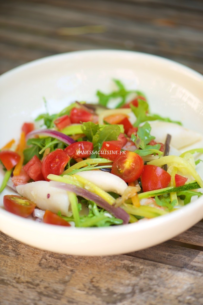 recette de salade de calmars et tomates comme en Italie